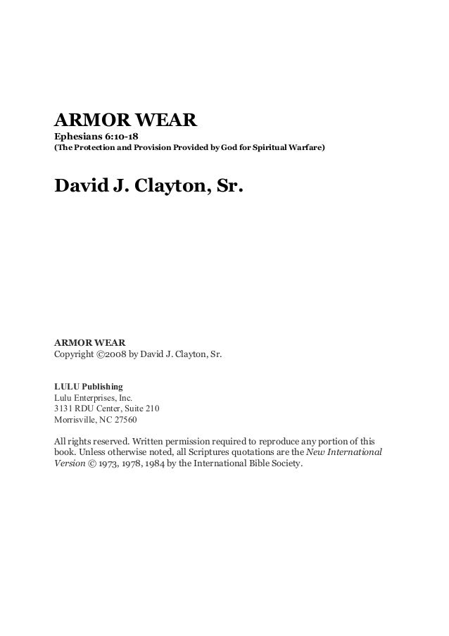 Armor wear