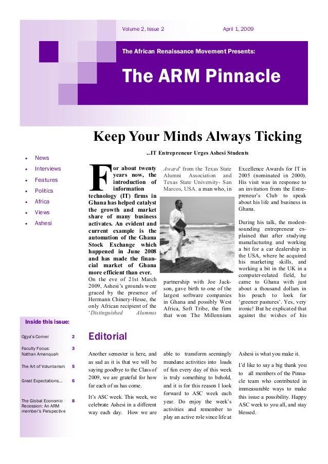 A.R.M Pinnacle vol ii, issue 2