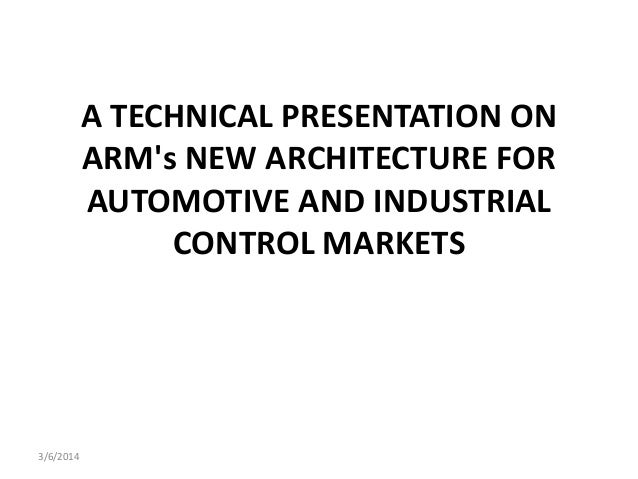 Arm's new architecture for automotive and industrial control markets