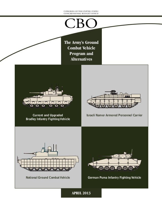 CBO Report Army GCV Program and Alternatives Apr 2013