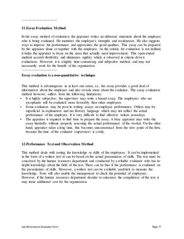 Do evaluation essay