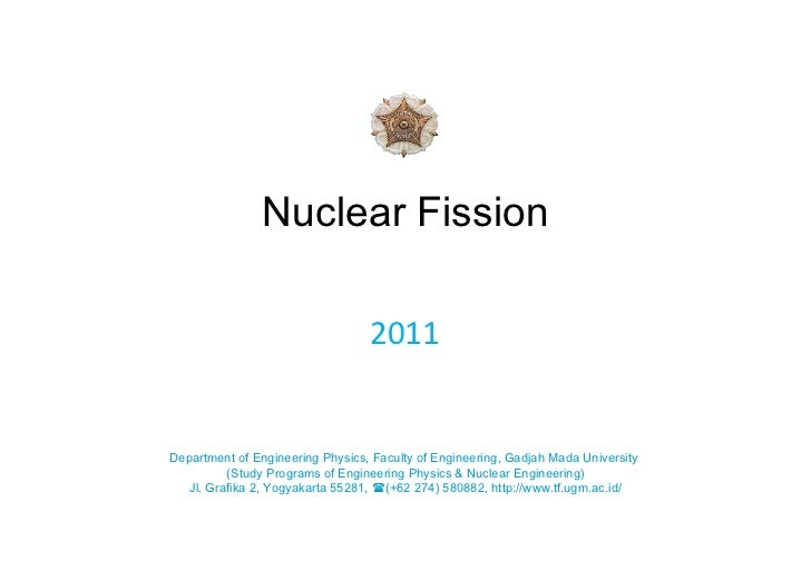 Nuclear Fission 2011