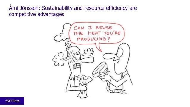 Kansallinen resurssiviisaus -foorumi 4.12.2013: Visualistin näkemys Árni Jónssonin esityksestä Sustainability and resource efficiency are competitive advantages