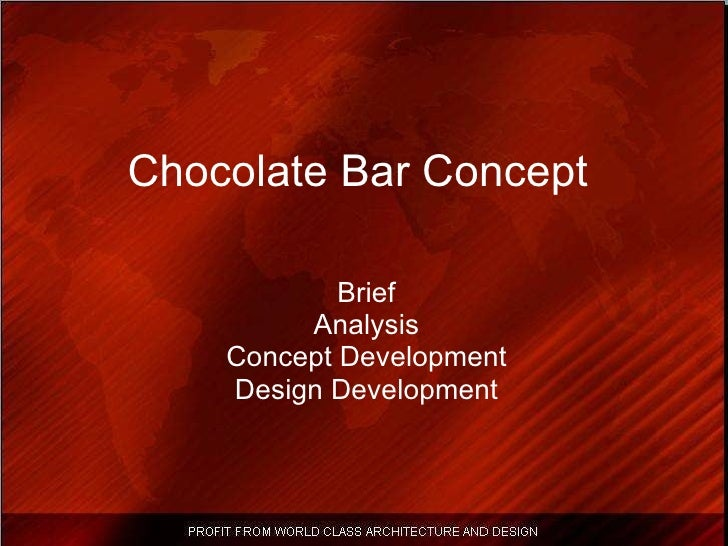Chocolate Bar Concept   Brief Analysis Concept Development Design Development