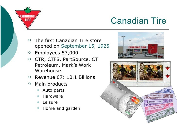 canadian tire environmental analysis Top competitors for canadian tire corporation, limited - get a clear understanding of canadian tire corporation, limited's competition view competitive landscape report.