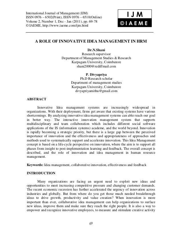 International JournalManagement (IJM), (IJM) International Journal of of Management ISSN 0976 – 6502(Print), ISSN 0976 – 6...