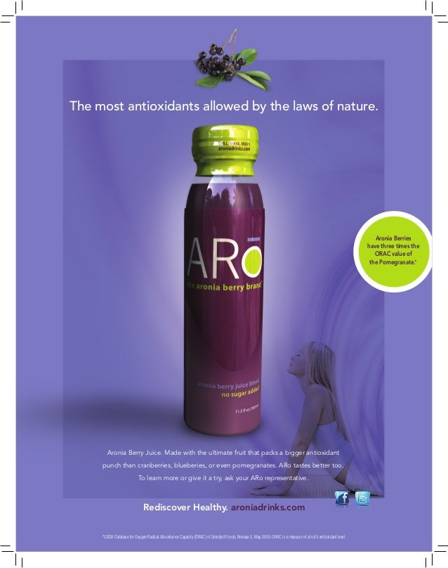 The most antioxidants allowed by the laws of nature.  Aronia Berries have three times the ORAC value of the Pomegranate.* ...