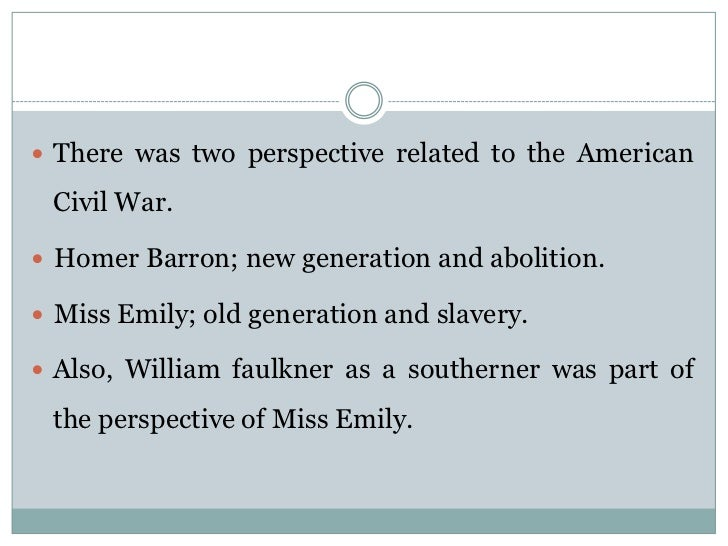 an analysis of the symbolism in the story a rose for emily by william faulkner A rose for emily mass studyguide study play william faulkner author emily grierson main character homer barron the story is broken up into 5 sections.