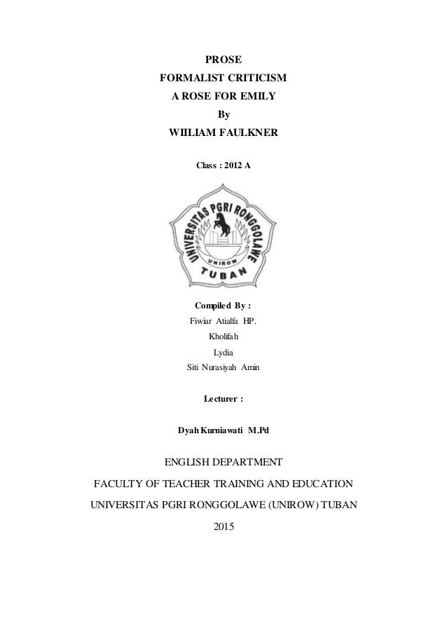 an analysis of the male interaction in a rose for emily by william faulkner Full-text paper (pdf): a stylistic analysis of a rose for emily by william faulkner and its turkish translation.