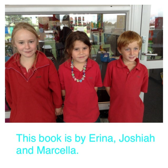 This book is by Erina, Joshiah and Marcella.