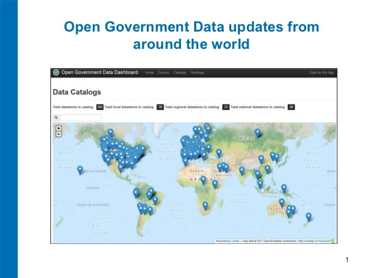 Open Government Data updates from        around the world                                    1