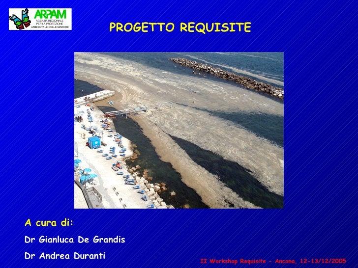 PROGETTO REQUISITE     A cura di: Dr Gianluca De Grandis Dr Andrea Duranti              II Workshop Requisite - Ancona, 12...