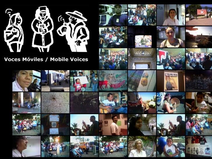 Mobile Voices presentation - ARP Colloquium - Nov 11 2008