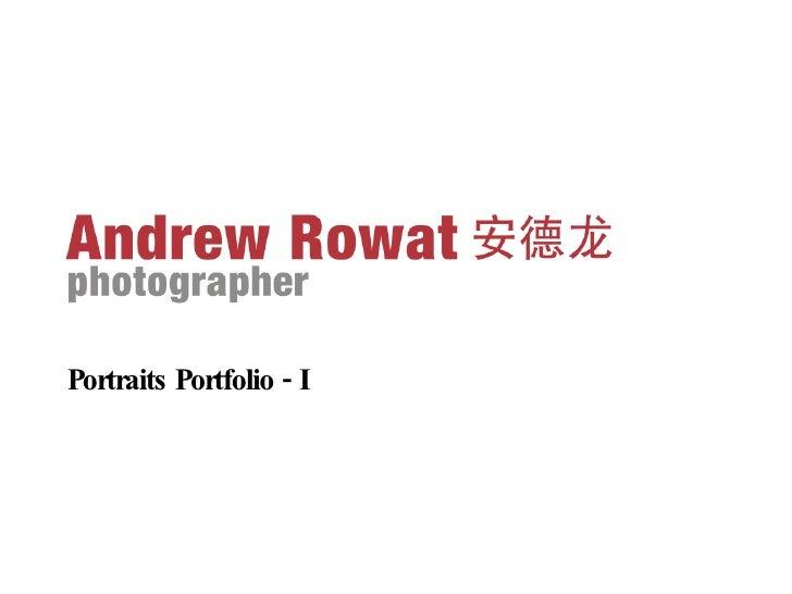 Portraits Portfolio - I