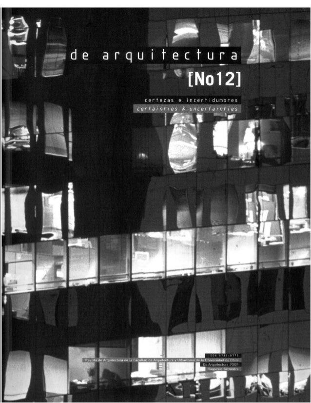Revista de Arquitectura Nº12 - Muestra