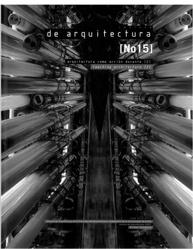 Revista de Arquitectura Nº15 - Muestra
