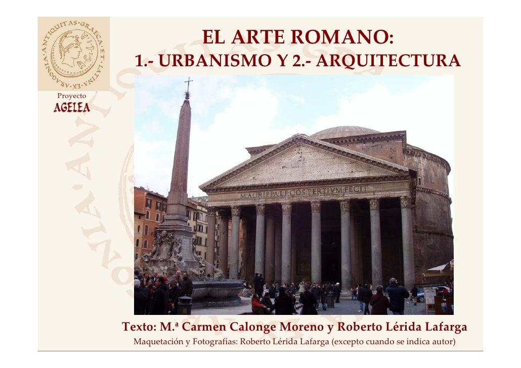 Arquitectura Y Urbanismo Romano