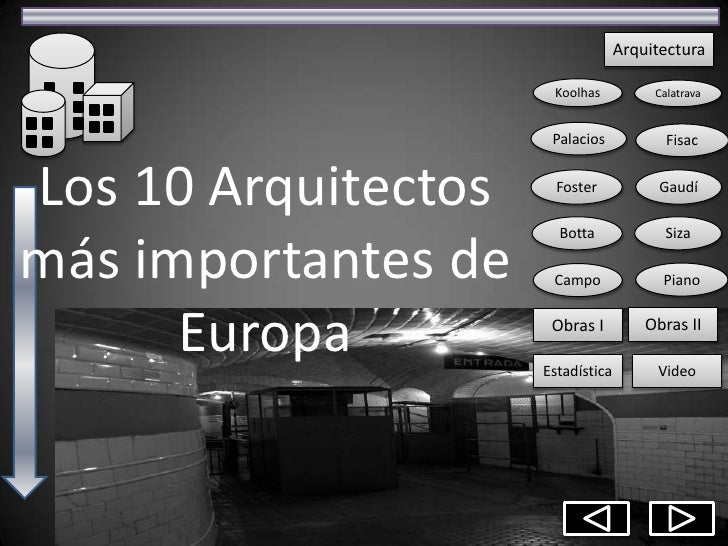 Arquitectos m s importantes de europa for Arquitectos importantes