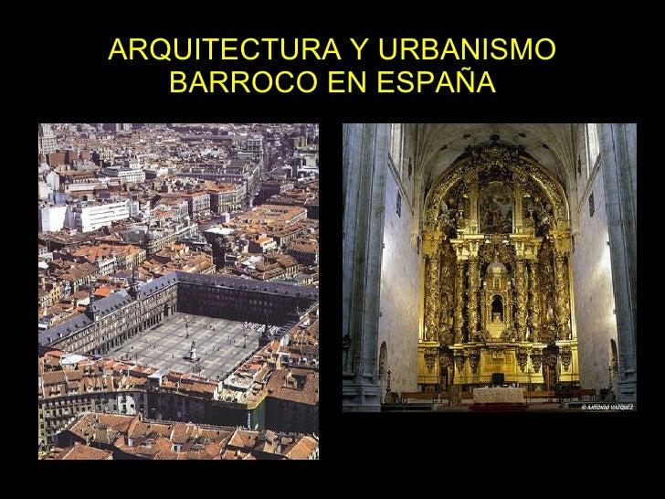 Arquitectura y urbanismo barroco en espa a for Arquitectura de espana