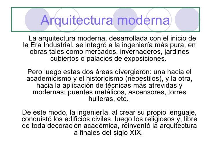 Arquitectura moderna 3 medio for Arquitectura moderna caracteristicas
