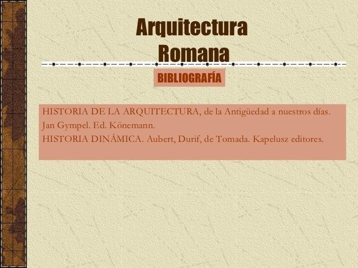 Arquitectura romana for Historia de la arquitectura pdf