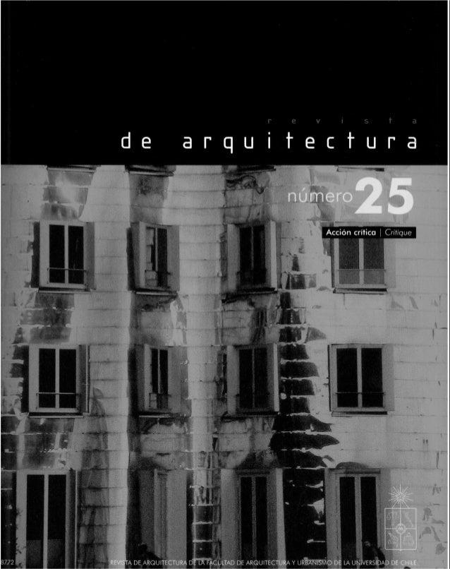 Revista de Arquitectura #25