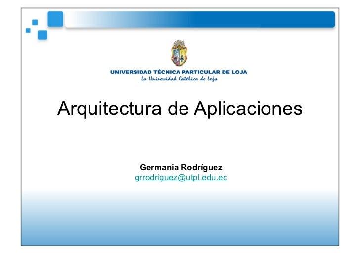 Arquitectura aplicaciones Patrones de diseño