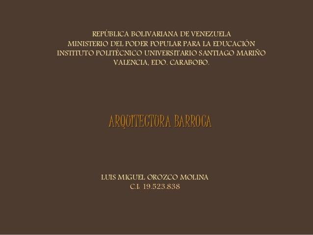 REPÚBLICA BOLIVARIANA DE VENEZUELA  MINISTERIO DEL PODER POPULAR PARA LA EDUCACIÓN  INSTITUTO POLITÉCNICO UNIVERSITARIO SA...
