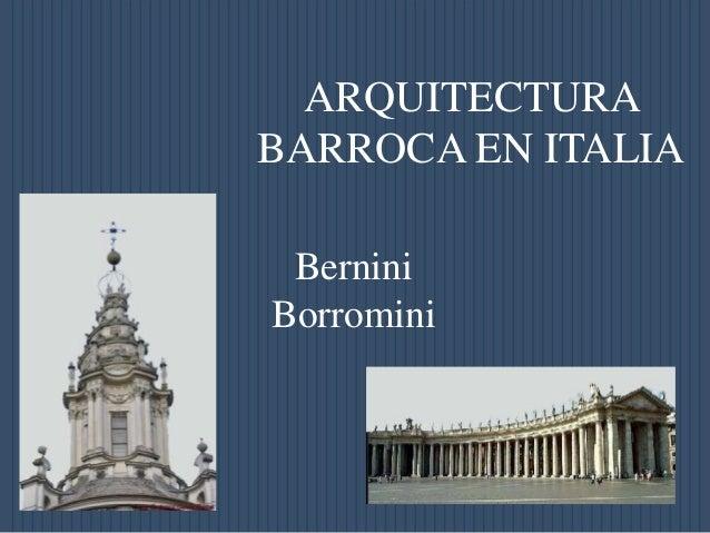 arquitectura barroca en italia marcelo valiente
