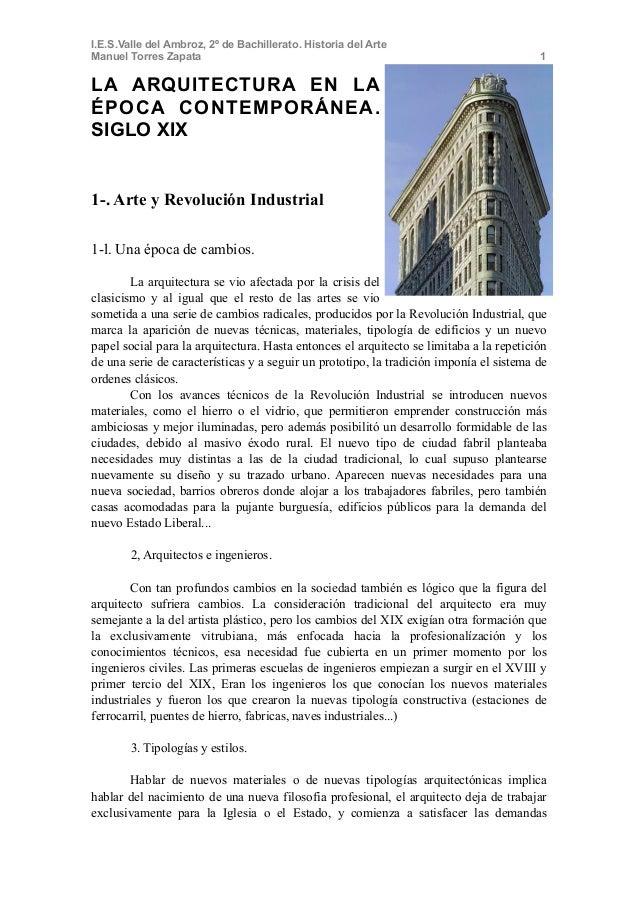 I.E.S.Valle del Ambroz, 2º de Bachillerato. Historia del ArteManuel Torres Zapata                                         ...
