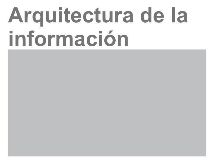 Arquitectura de lainformación