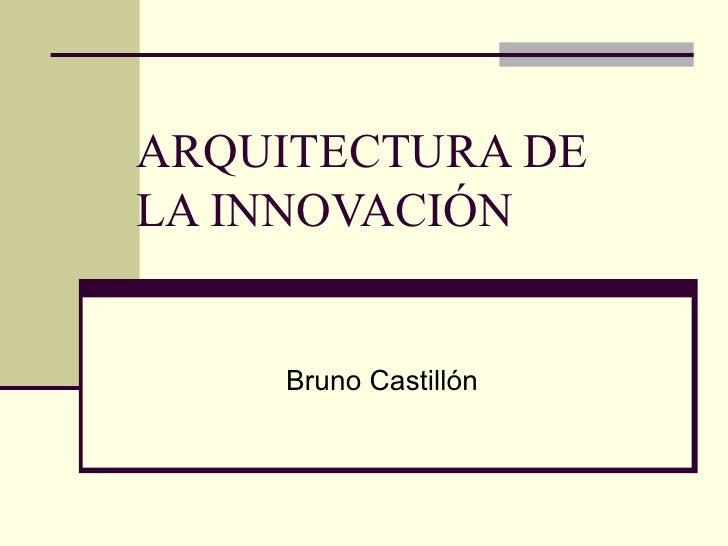 ARQUITECTURA DE LA INNOVACIÓN Bruno Castillón