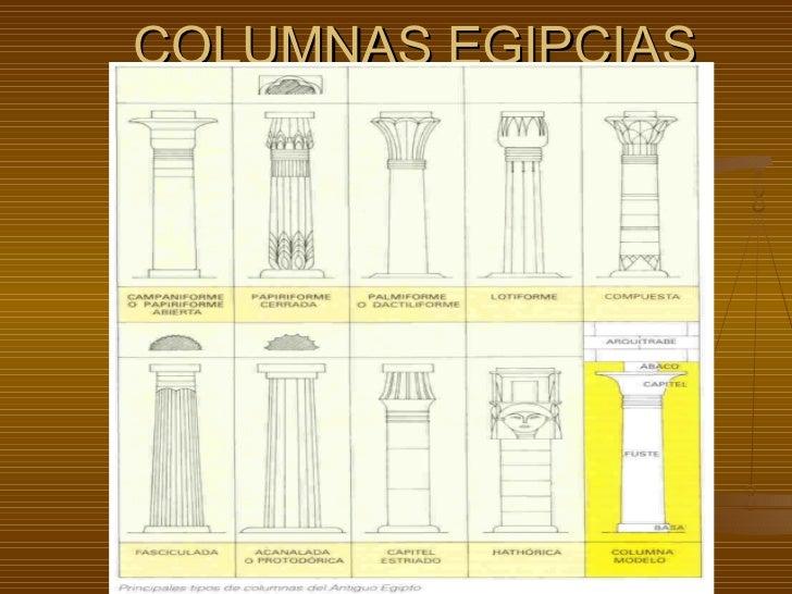 <ul>COLUMNAS EGIPCIAS </ul>