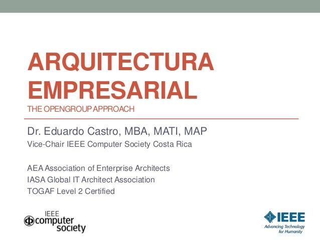 Introduccion a Arquitectura Empresarial