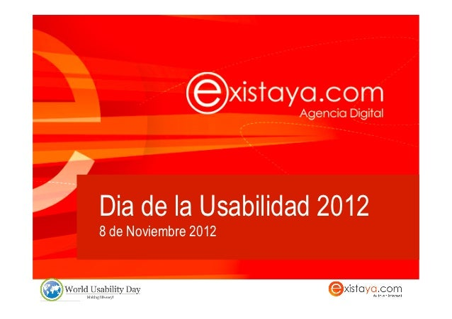 Dia de la Usabilidad 20128 de Noviembre 2012
