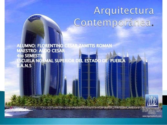 Arquitectura moderna 1 3 for Arquitectura moderna