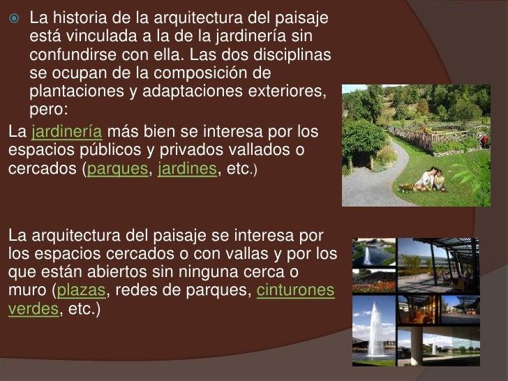 Arquitectura paisaje for En que consiste la arquitectura