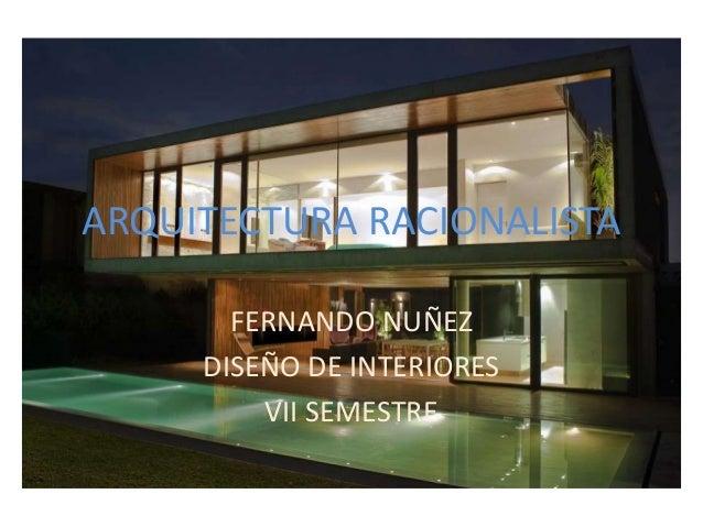 Arquitectura racionalista 1 - Disenadores de casas interiores ...