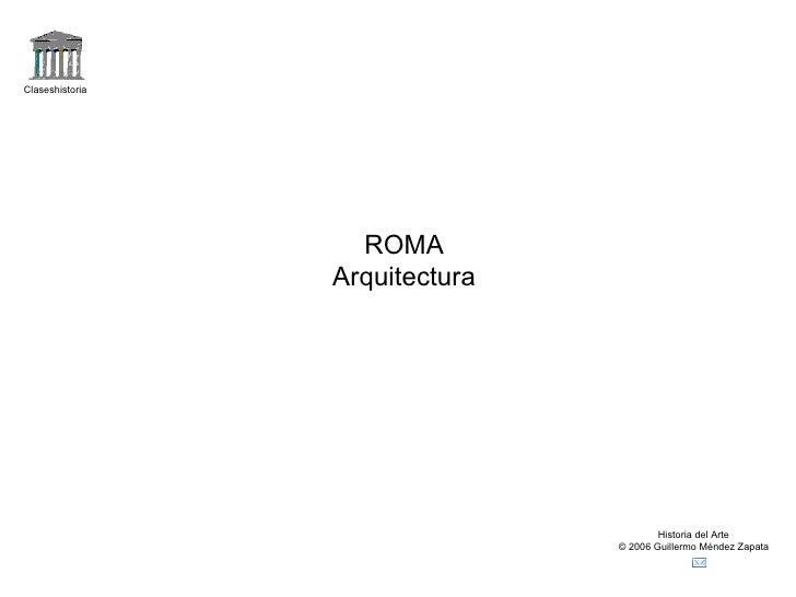 Arquitecturaromana
