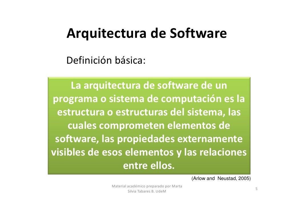 Arquitecturas de software parte 1 for Definicion de estilo en arquitectura
