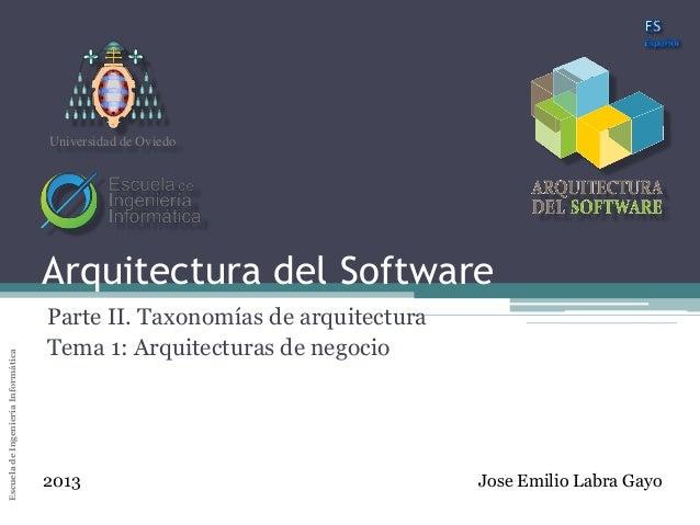 Arquitectura del SoftwareUniversidad de Oviedo                                    Universidad de Oviedo                   ...