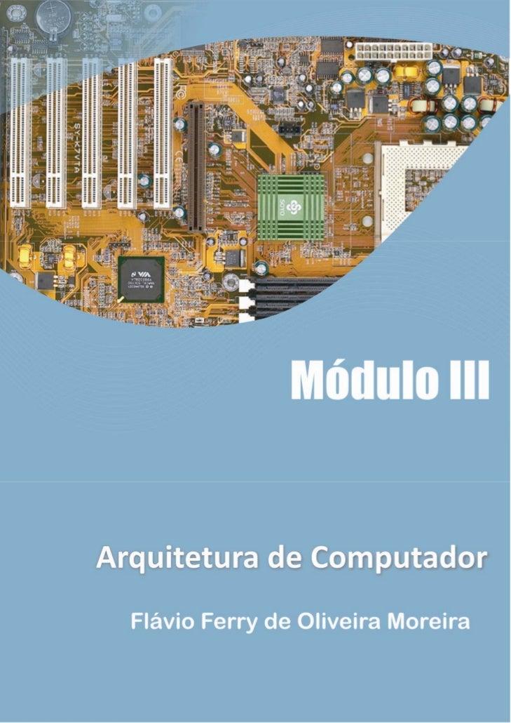 Arquitetura de-computadores-apostila-avançada completa