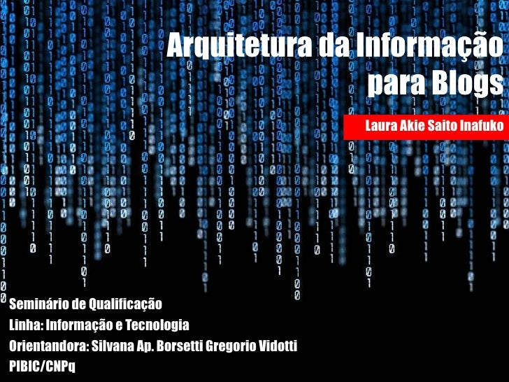 Arquitetura da informação para blogs