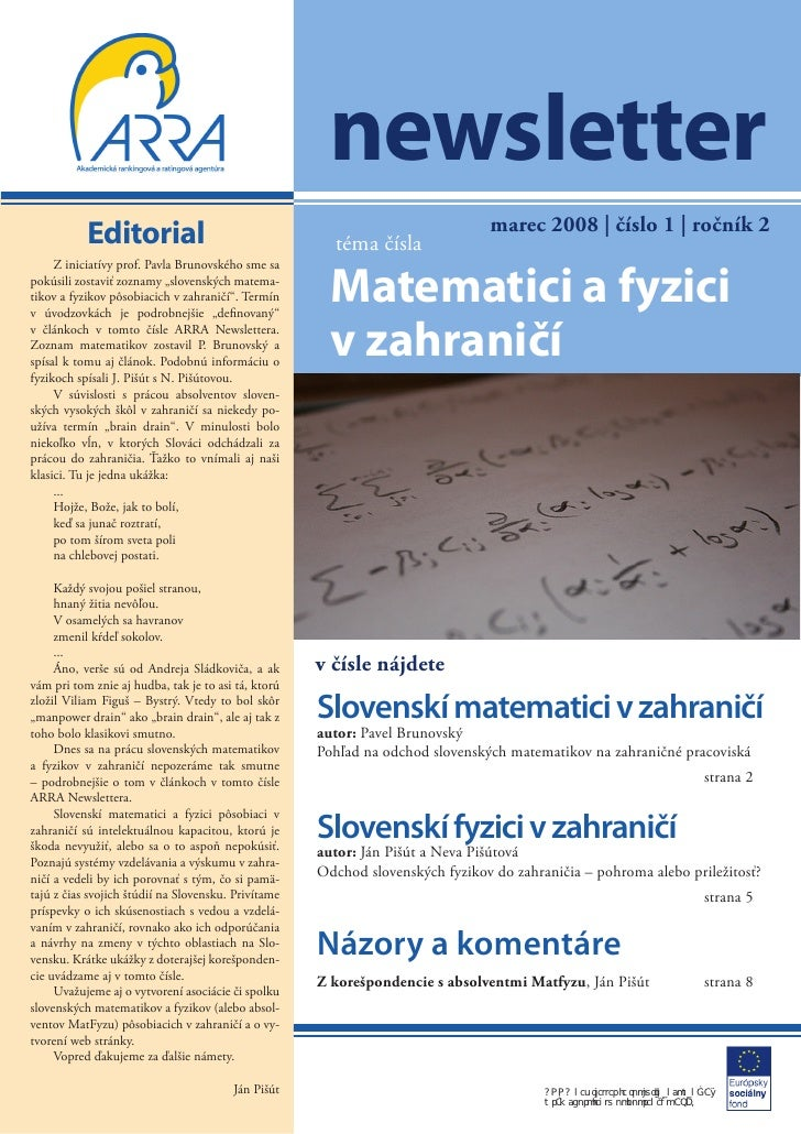 newsletter                                                                               marec 2008 | číslo 1 | ročník 2  ...