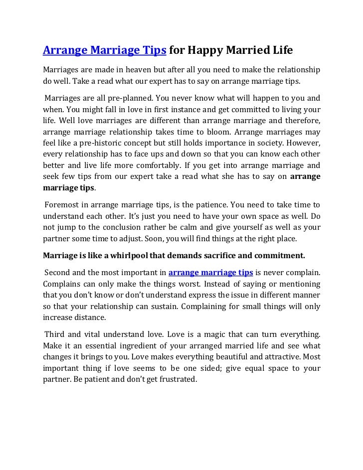 Love marriage and arranged married essay