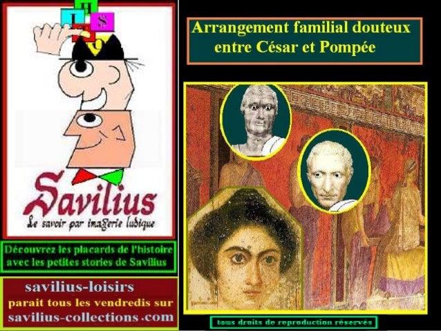César et Pompée et leurs femmes