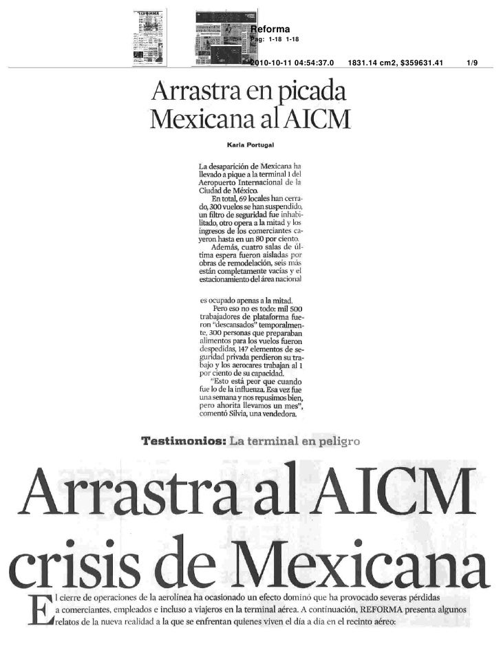 Arrastra al AICM crisis de Mexicana