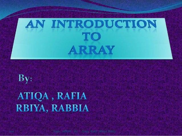 Array 2011