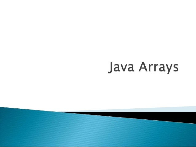 Array lecture