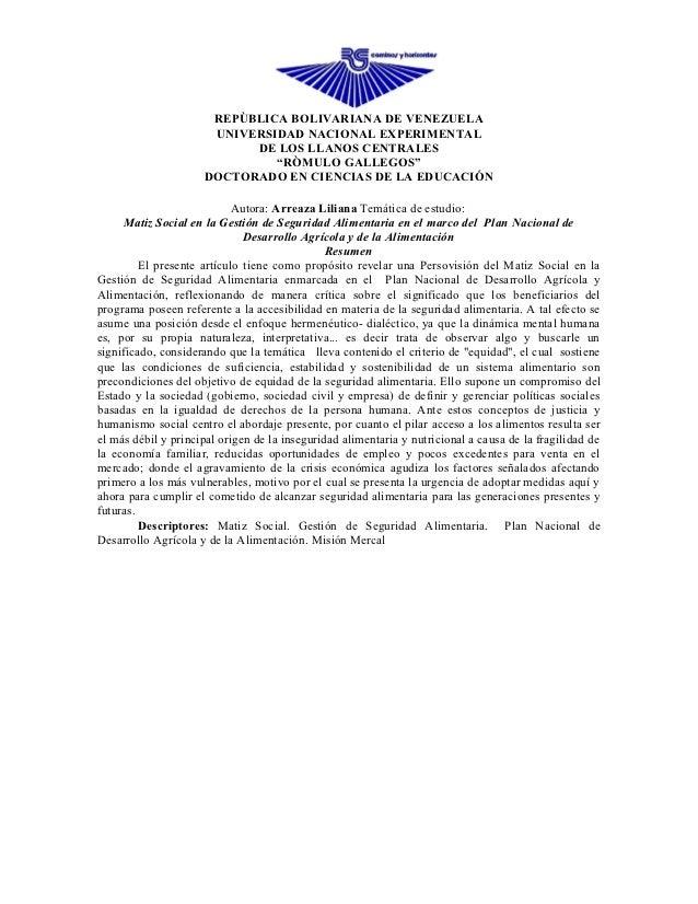 REPÙBLICA BOLIVARIANA DE VENEZUELA                      UNIVERSIDAD NACIONAL EXPERIMENTAL                           DE LOS...